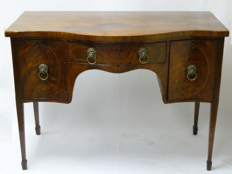 RARE ANTIQUE 18 c. GEORGE III MAHOGANY INLAID SIDEBOARD HEPPLEWHITE c .1780