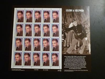 UNITED STATES SCOTT  3329 LEGENDS OF HOLLYWOOD - THE 1999 JAMES CAGNEY SHEET