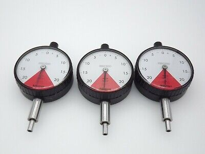 Mitutoyo 2977 Dial Indicator Quantity Of 3 With .0005 Japan Cleaned Tested