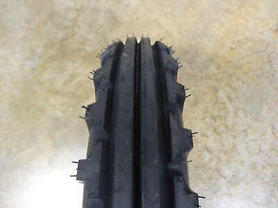Two 5.00-15 Bkt Tf-8181 Vintage Tread Front Tractor Tires With Tubes