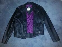 Volcom Women's Black Leather jacket Size S. 100% leather. Palm Beach Pittwater Area Preview