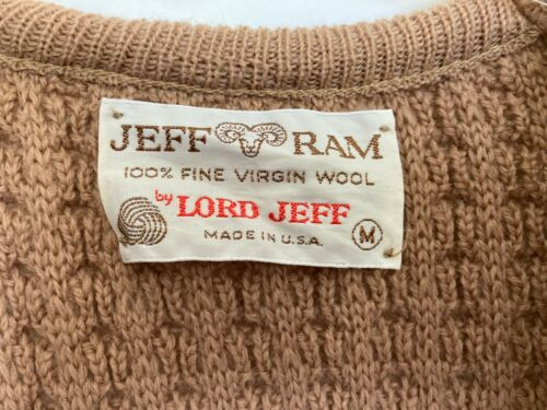 Vintage Lord Jeff Sweater Vest - Made in USA - Medium