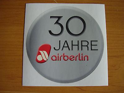 Airline Aufkleber 30 Jahre Air Berlin Sticker