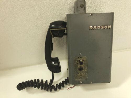 RADSON VINTAGE RT-75 RADIO TELEPHONE - RAILROAD/TRAIN
