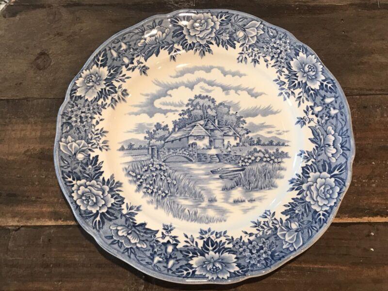"Set of 6 Vintage Salem China Co. Ironstone ""English Village"" Dinner Plates 9 7/8"