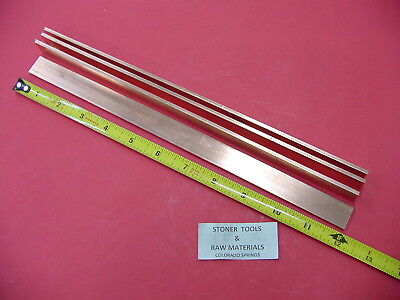 4 Pieces 18 X 34 C110 Copper Bar 12 Long Solid Flat Mill Bus Bar Stock H02