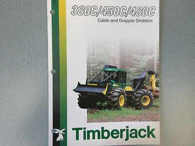 Timberjack 380c 450c 480c Cable Grapple Skidder Sales Brochure 6 Page
