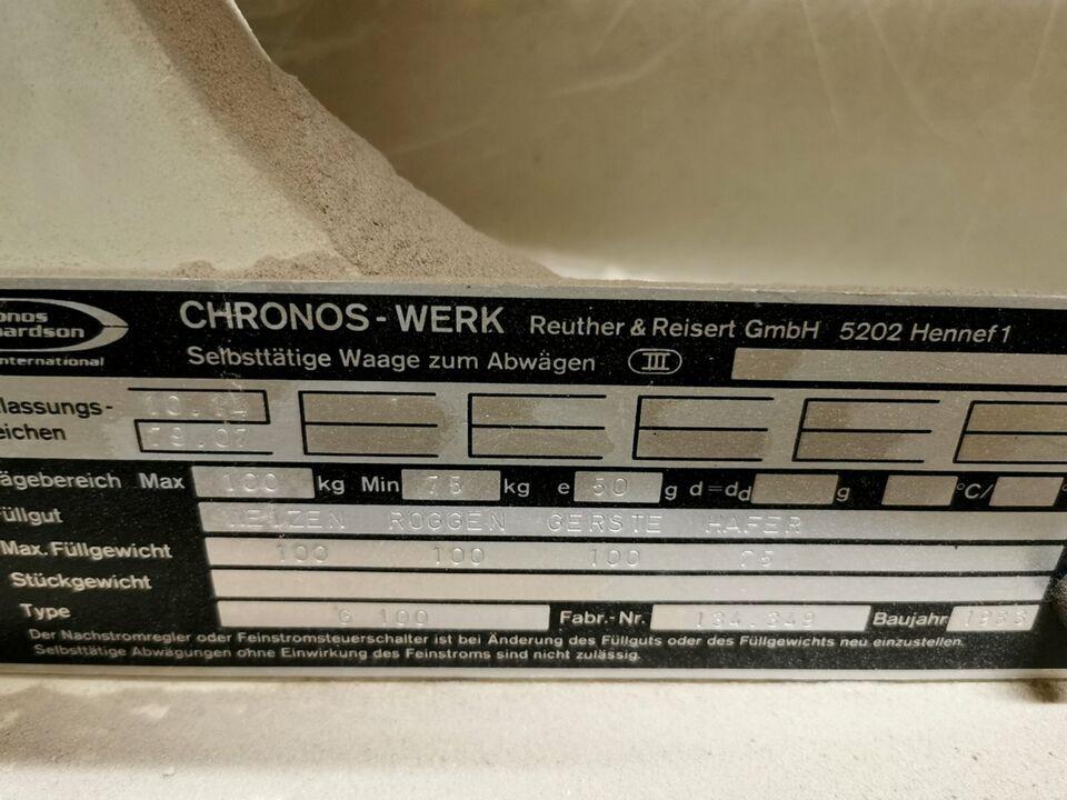 Kippwaage, Durchlaufwaage, Getreidetechnik, Chronos Libra, 100 kg in Moosburg a.d. Isar