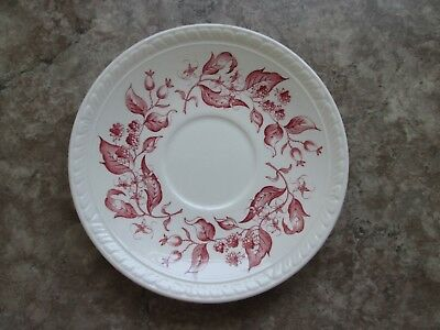 "BARKER BROS LTD PINK 5 3/4"" Saucer -  Olde English Country Crafts - EUC"