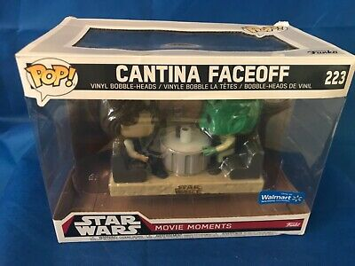 Funko POP! Star Wars Movie Moments Cantina Faceoff #223 Han Solo & Greedo damage