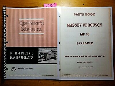 Massey Ferguson Mf 18 Pto Manure Spreader Owner Operator Manual 67 Parts 67