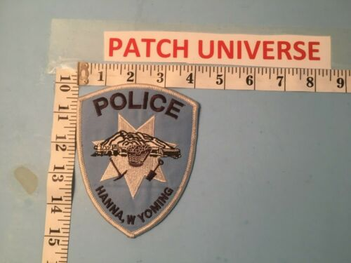 HANNA WYOMING POLICE  SHOULDER PATCH  Q057