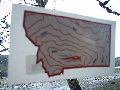 Sitka Hunting and Outdoor Gear Topo Map Montana shaped decal