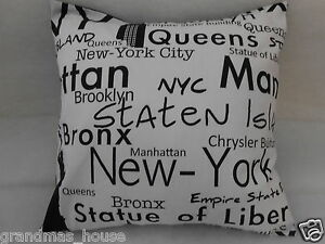 New-York-New-York-Cushion-Cover-45cm-x-45cm-100-Cotton