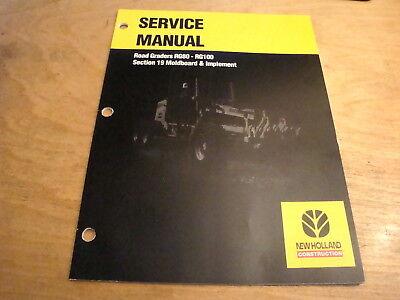 New Holland Rg80 Rg100 Road Grader Moldboard Service Repair Shop Manual