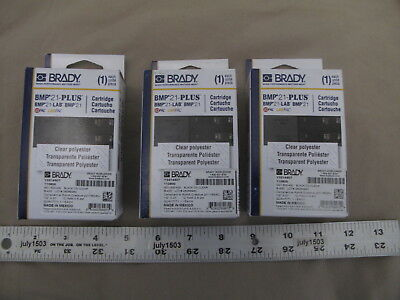 3 New Brady Label Cartridge M21-500-430 Blackclear Polyester 12 X 21 Bmp21