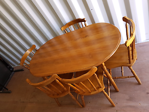 Solid Timber Dining Table and Chairs Tamworth Tamworth City Preview
