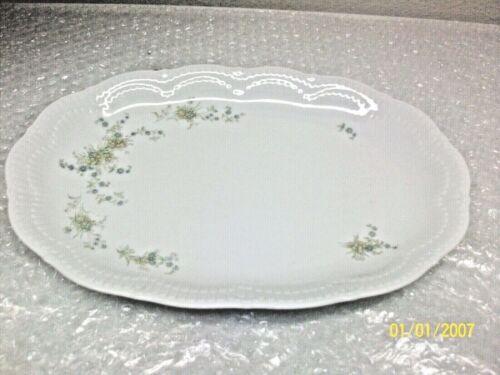 Schirnding Bavaria Porcelain Blue Yellow Floral Serving Platter made in Germany