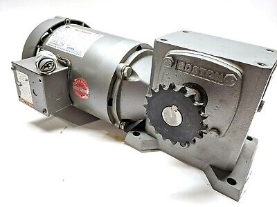 Leeson 114213.00 Conveyor Drive Motor Boston Gear F721b-30k-b5-g Speed Reducer