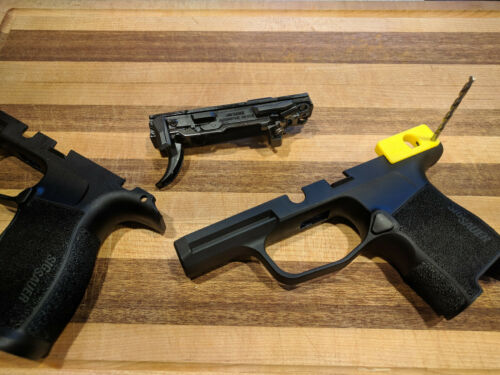 SIG P365 Manual Safety cut template