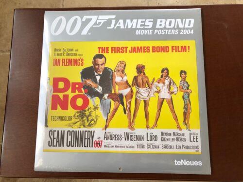 James Bond 007 Movie Poster Calendar 2004 Brand New By TeNeues
