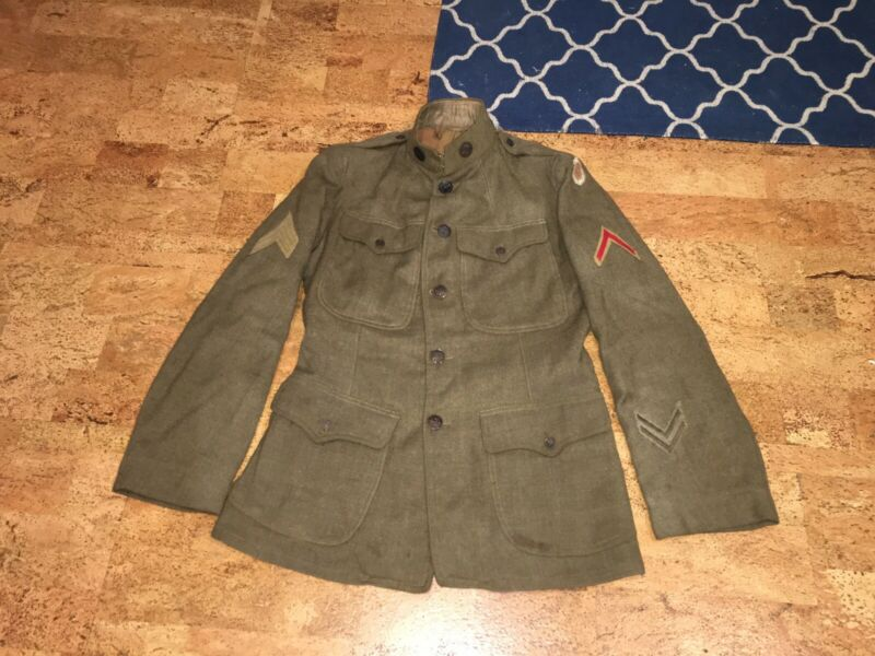 ww1 ww2 us military uniform coat jacket 145th Infantry, 37th Infantry Division