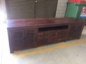 Stylish Hardwood Entertainment Unit Lutwyche Brisbane North East Preview