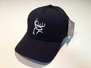 BRAND-NEW-BUCK-COMMANDER-BLACK-A-FLEX-FITTED-HAT-CAP-E3-RANCH-STYLE-HOT