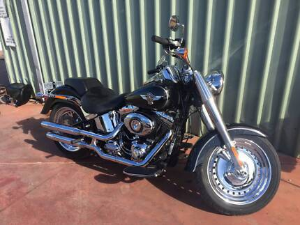 2013 HARLEY DAVIDSON FATBOY FLSTF GLOSS BLACK Bellevue Swan Area Preview
