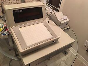 Cash register, drawer and receipt printer