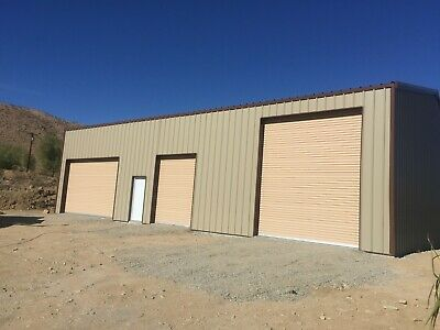 Steel Building 40x60x12 SIMPSON ALL GALVALUME garage storage shop metal (Steel Storage Building Metal)
