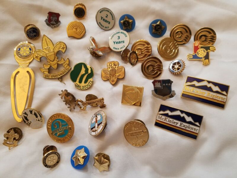 Lot Vintage Scouting Scout items: Girl, Liberty Pins More