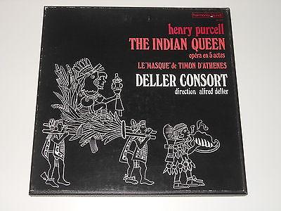 Deller Consort - 2LP Box - PURCELL - The Indian Queen - Harmonia Mundi HM 243