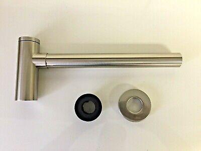 Brass Round Bottle P Trap Basin Sink Waste Trap Drain Brushed Nickel 1 1/4
