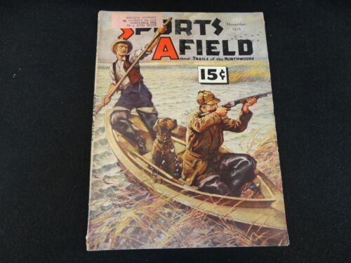 Sports Afield Magazine Vintage November 1938 Issue Free Shipping!