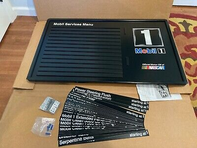 Auto Shop Service Display Price Sign Mobil Oil Nascar 43 X 26