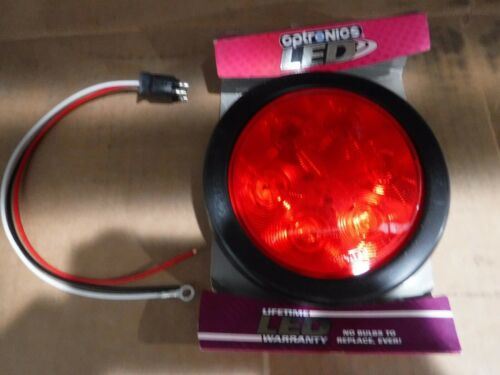 "Optronics STL13RK Red Lens 4"" Round Sealed LED Tail Light Kit."