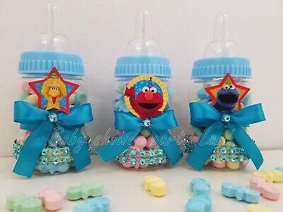 Baby Shower 12 Elmo Sesame Street Favor Bottles Prizes Games Boy Blue Decoration