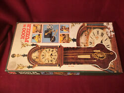 ANTIQUE DUTCH CLOCK Jigsaw PUZZLE 1000 pc. Quartz Clock Mechanism Included 1984