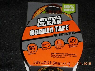 New Roll Of Multi-purpose Crystal Clear Gorilla Tape To Fix Patch Seal
