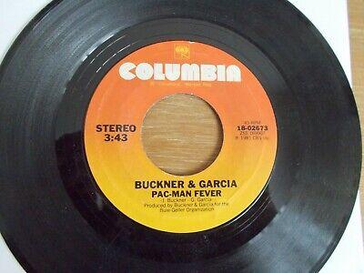 "45 RPM RECORD""BUCKNER & GARCIA""(PAC-MAN FEVER & THE INSTRUMENTAL)PLAYS VERY GOOD"