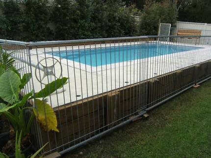 TEMPORARY GALVAISED STEEL POOL FENCING Forster Great Lakes Area Preview