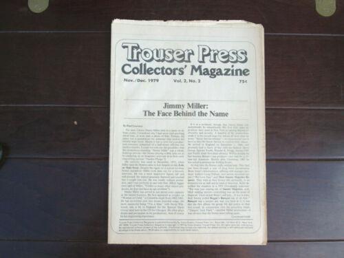 Trouser Press Collectors Magazine - Vol. 2 No. 2 - Nov/Dec 1979 - Jimmy Miller