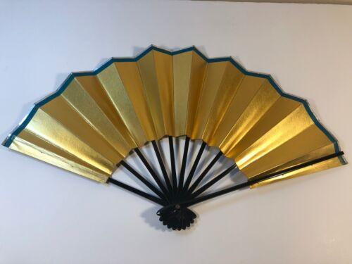 Japanese Dance Folding Fan Gold /Made in Japan