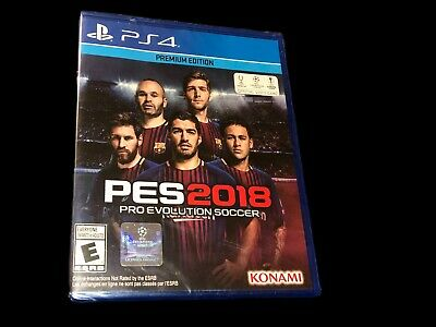 BRAND NEW!  PES2018 Pro Evolution Premium Edition Soccer PS4 Playstation 4 !