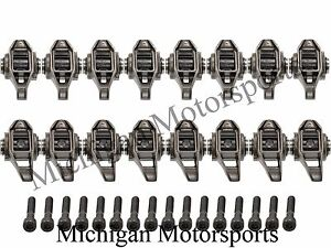 LS3 Rocker Arms - With Trunion Kit Installed L99 L76 L92 LS9 LSA Bolts Included