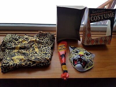 Vintage Ben Cooper Masquerade Halloween Costume Leaping Leopard No 860 Small