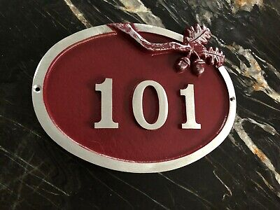 "Address Plaque: Sawtooth Series Small Oak Oval House Number Sign 10 3/4""x1/2""x8"" for sale  Latrobe"