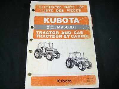 Kubota M9580dt Tractor Parts List Manual Book Catalog Oem