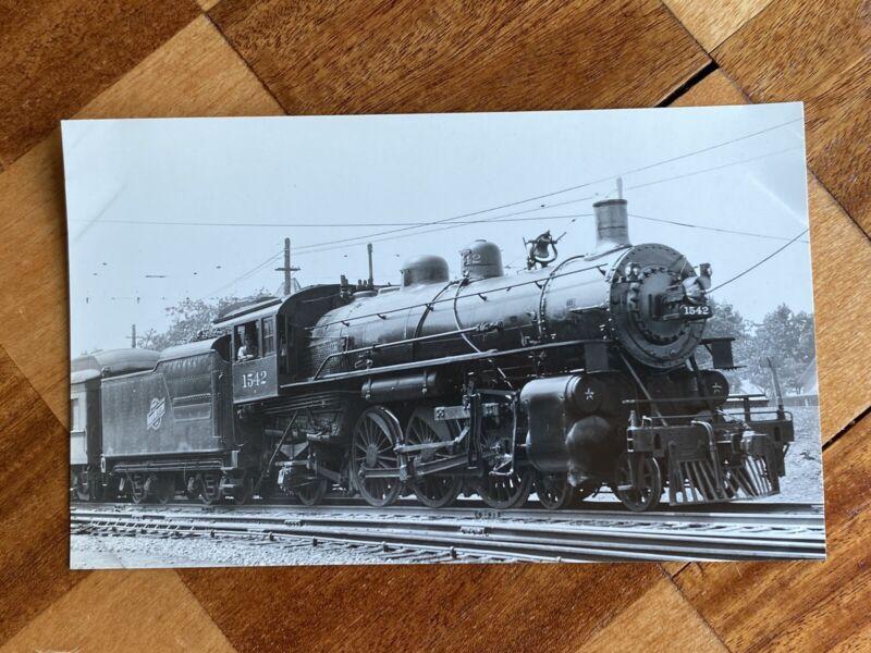 Chicago North Western Railroad Locomotive 1542 Vintage Photo C&NW